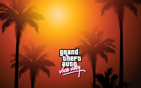 Grand Theft Auto: Vice City palm trees wallpaper 2880x1800 jpg