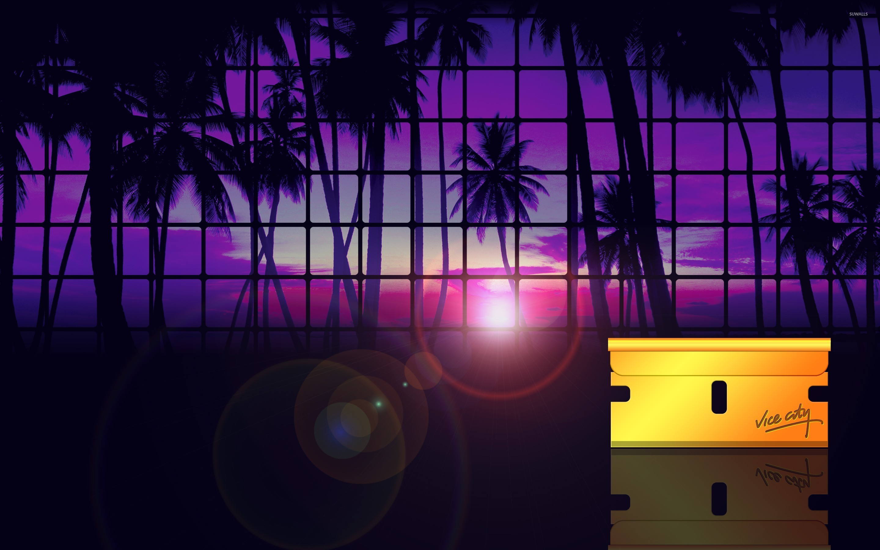 Grand Theft Auto Vice City Sunset Wallpaper Game