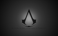 Gray Assassin's Creed logo wallpaper 1920x1080 jpg