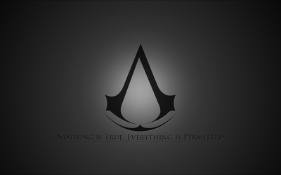 Gray Assassin's Creed logo wallpaper