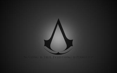 Gray Assassin's Creed logo Wallpaper