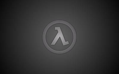 Gray Half-Life logo wallpaper