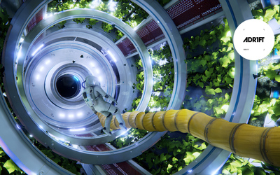 Greenhouse in the spaceship in ADR1FT wallpaper