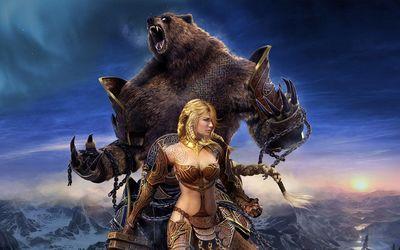 Guild Wars female warrior Wallpaper