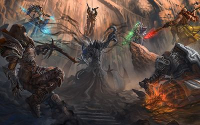 Heroes in Diablo III wallpaper