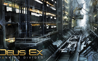 Industrial building in Deus Ex: Mankind Divided wallpaper 2560x1440 jpg
