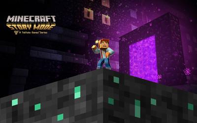 Jesse in Minecraft: Story Mode wallpaper