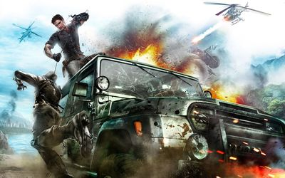 Just Cause 2 fight wallpaper