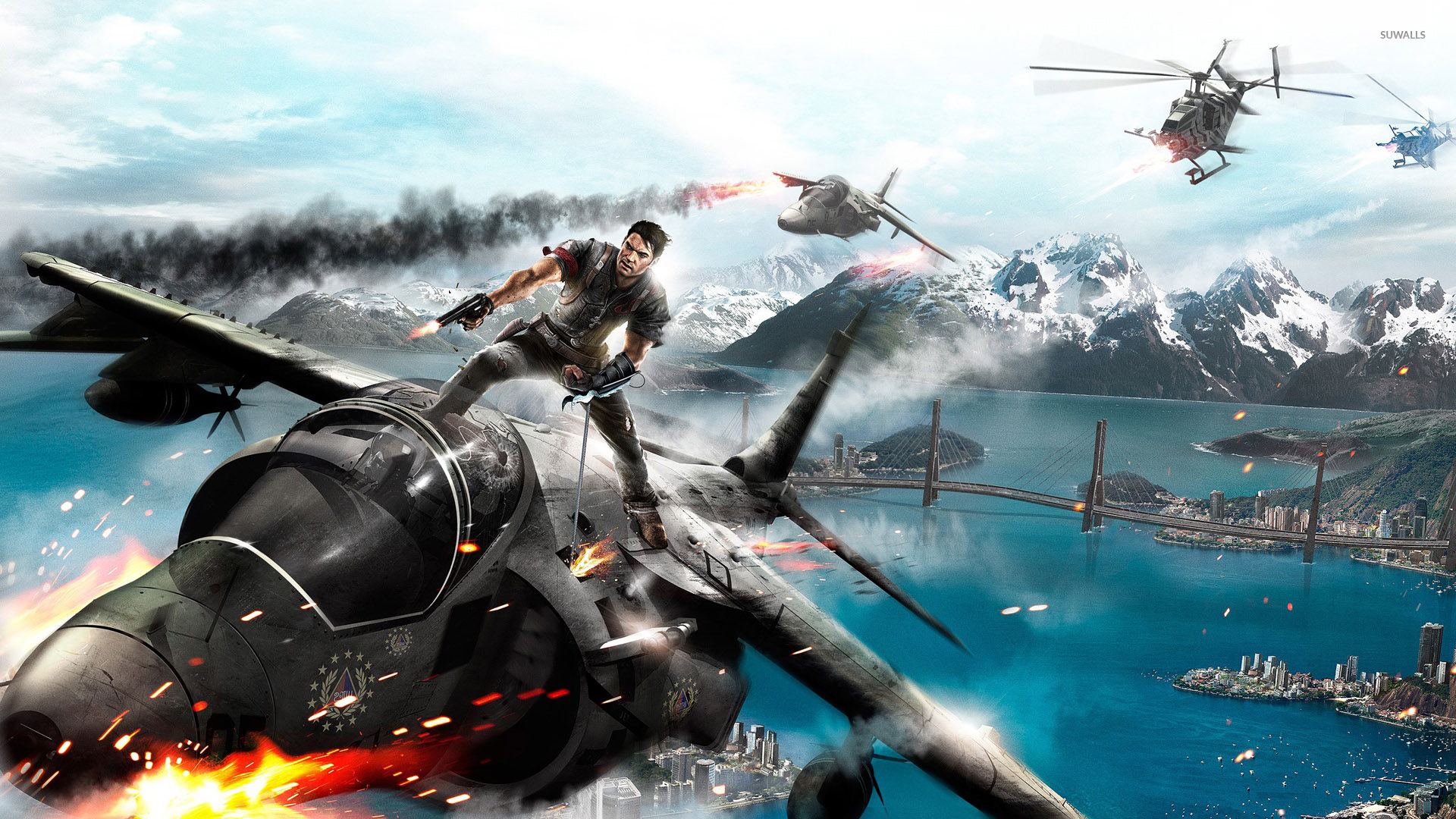Just Cause 3 soldier on the plane wallpaper - Game wallpapers - #54543