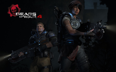 Kait and JD in Gears of War 4 wallpaper