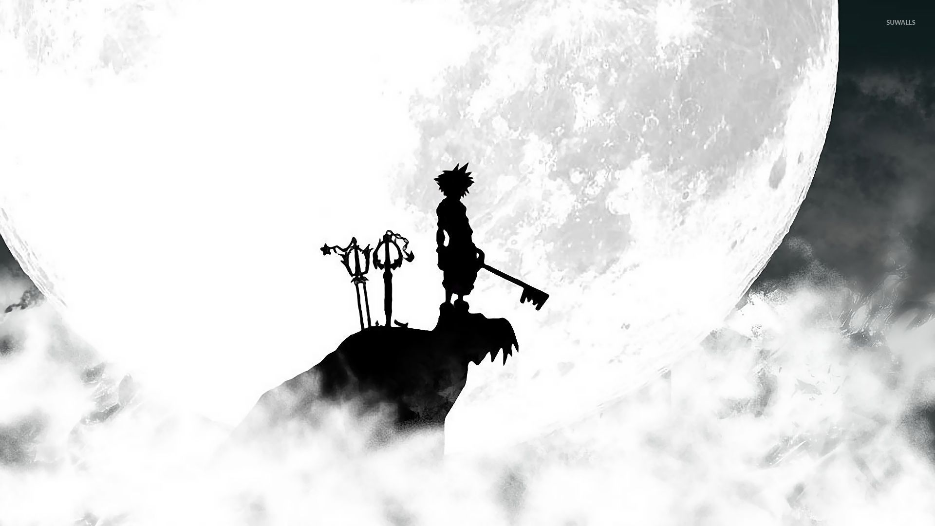 Kingdom Hearts 3 warrior on the cliff wallpaper