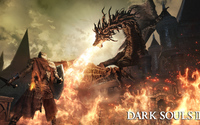 Knight fighting the dragon in Dark Souls III wallpaper 3840x2160 jpg