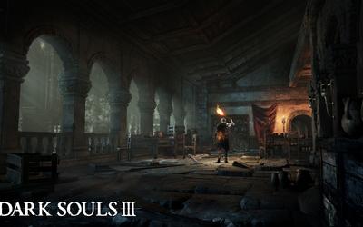 Knight in an empty room in Dark Souls III wallpaper