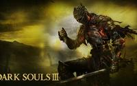 Knight on fire in Dark Souls III wallpaper 1920x1080 jpg