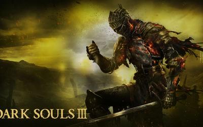Knight on fire in Dark Souls III wallpaper