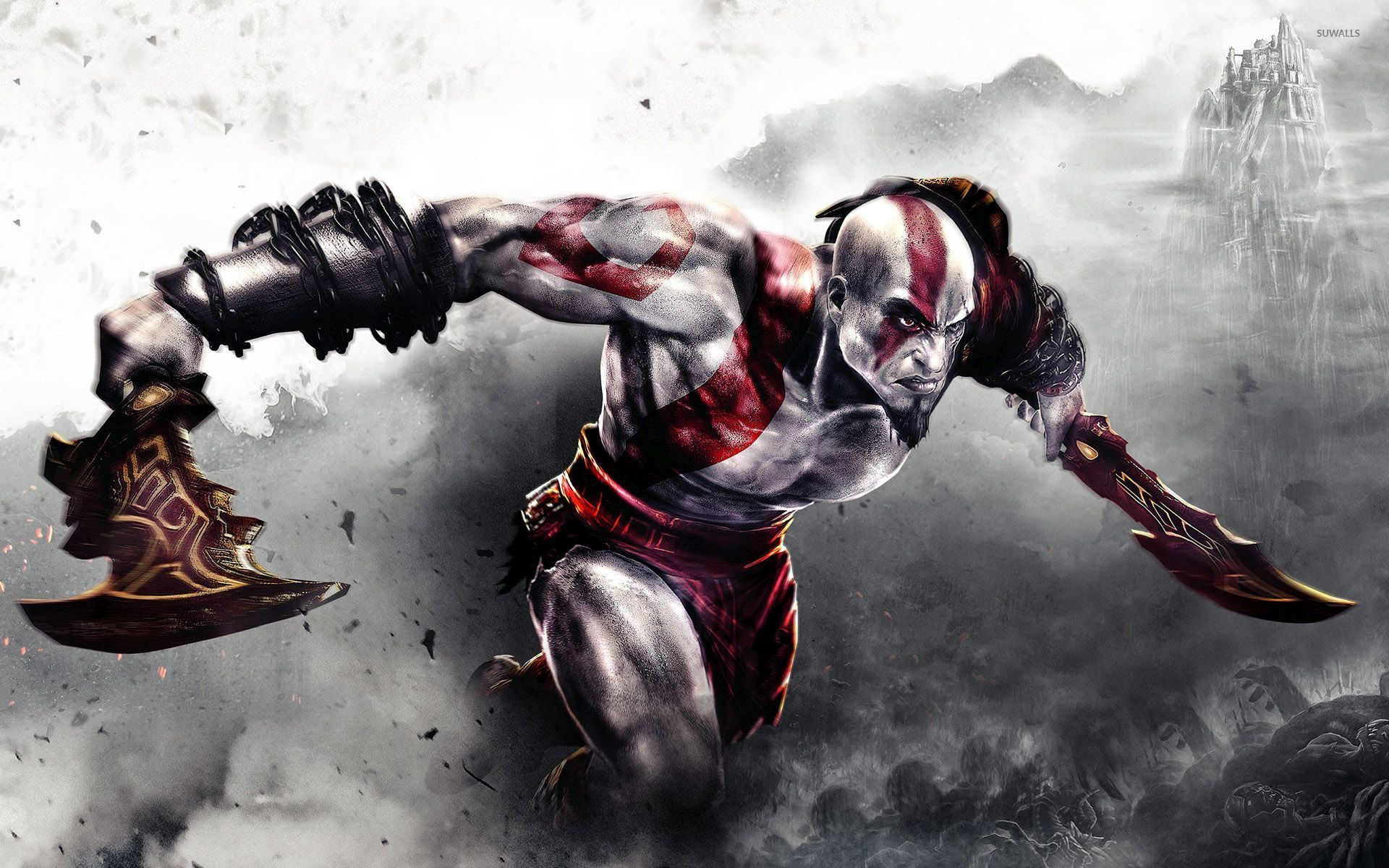 kratos with a sword god of war 54553 1920x1200