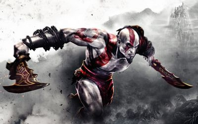 Kratos with a sword - God of War wallpaper