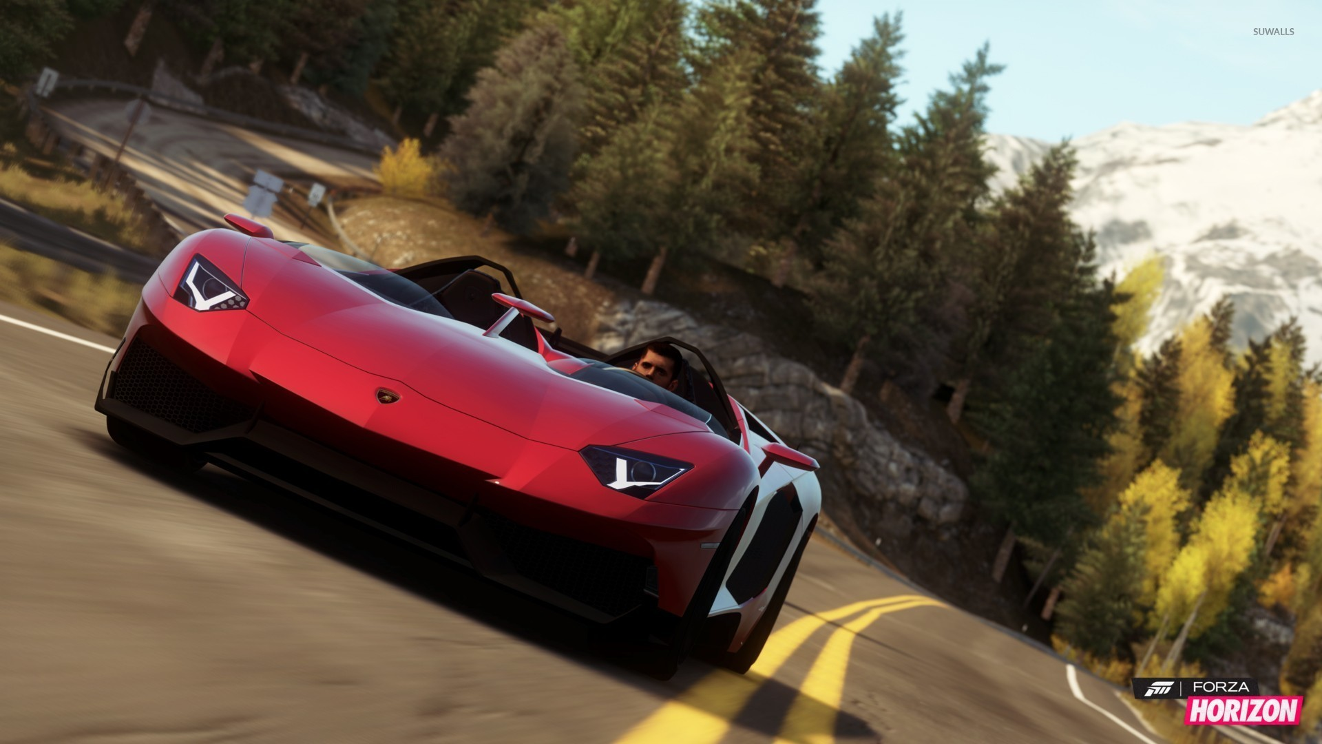 Lamborghini Aventador J Forza Horizon Wallpaper Game Wallpapers