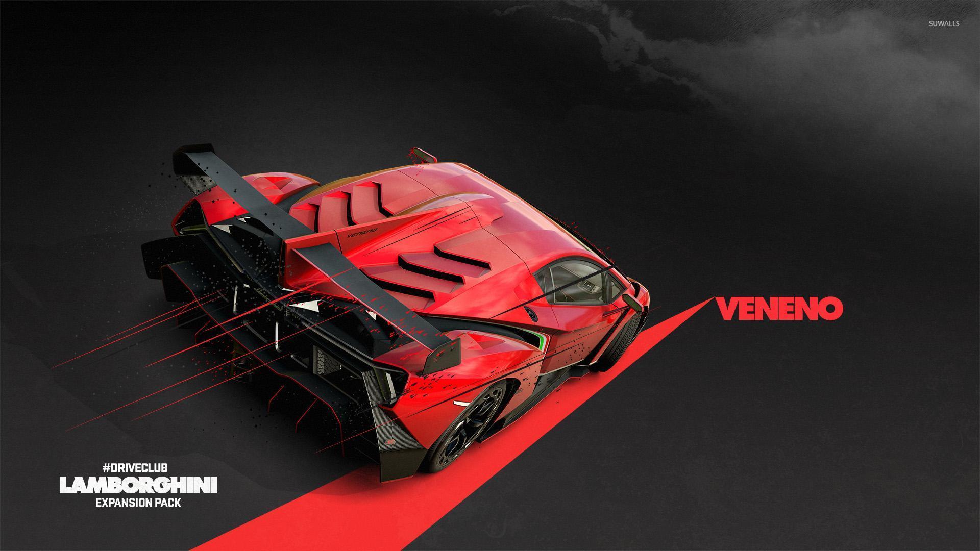 lamborghini veneno driveclub wallpaper - Red Lamborghini Veneno Wallpaper