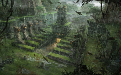 Lara Croft in Tomb Raider: Underworld wallpaper