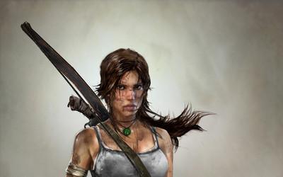 Lara Croft with wet hair - Tomb Raider wallpaper