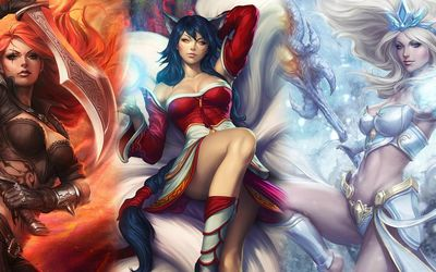League of Legends women wallpaper