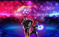 Liara T'Soni  and Commander Shepard - Mass Effect wallpaper 1920x1200 jpg