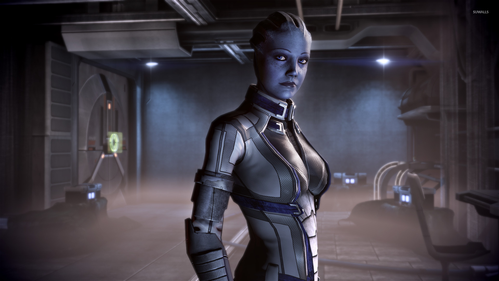 Liara Tsoni From Mass Effect Redemption Wallpaper Game