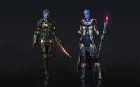 Liara T'Soni with different weapons - Mass Effect wallpaper 1920x1200 jpg