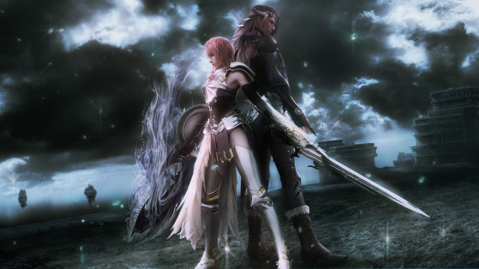 Lightning And Caius Final Fantasy Xiii 2 Wallpaper Game