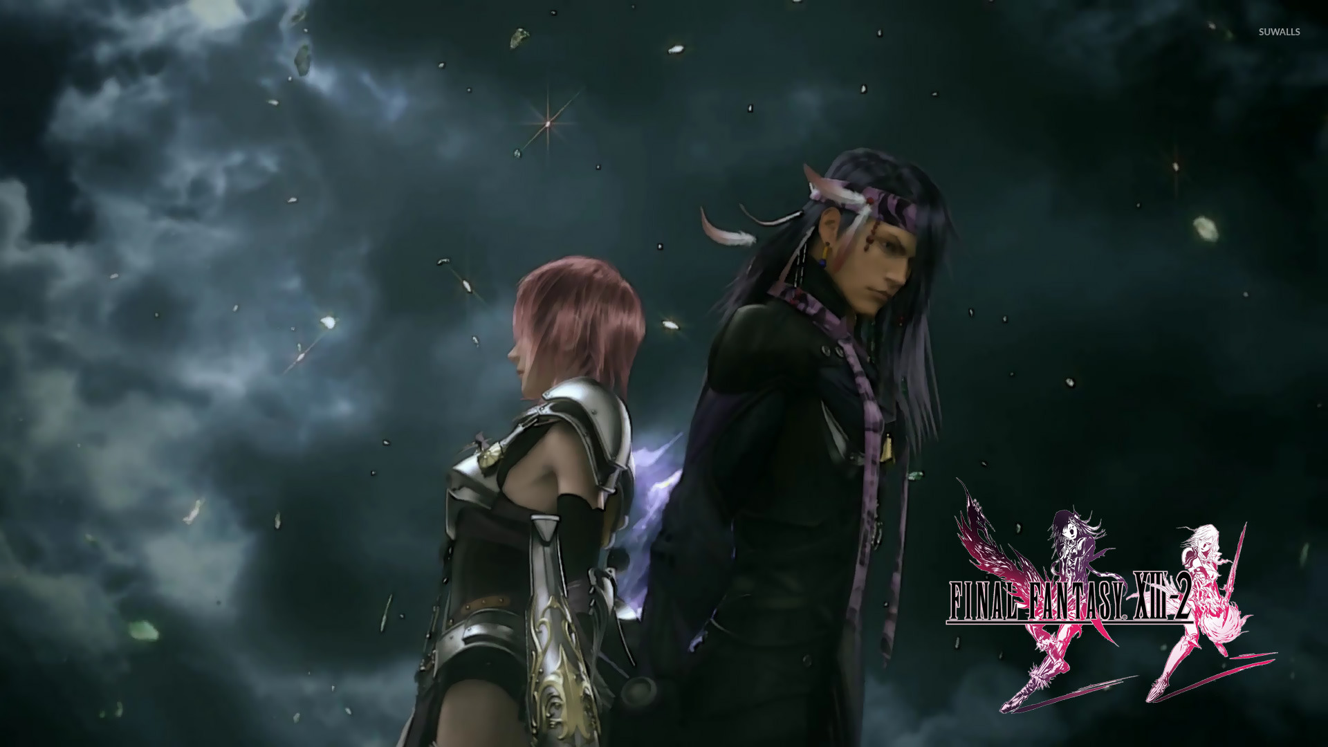 Lightning And Caius Final Fantasy Xiii 2 3 Wallpaper Game