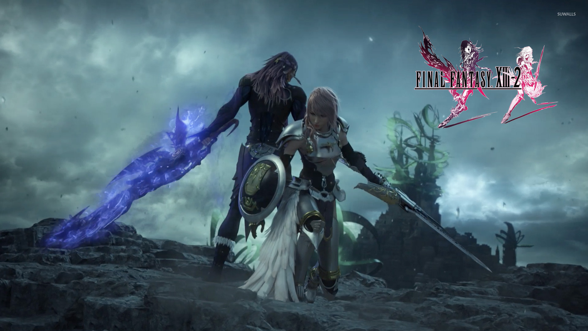 lightning and caius - final fantasy xiii-2 [2] wallpaper - game