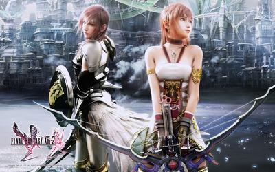 Lightning and Serah - Final Fantasy XIII-2 wallpaper
