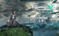 Lin Lee sitting on the cliff - Xenoblade Chronicles X wallpaper 1920x1200 jpg