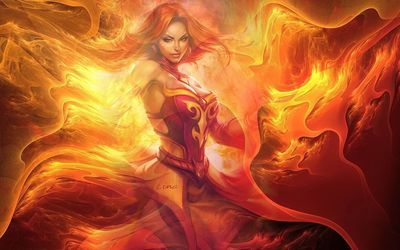 Lina - Dota 2 wallpaper