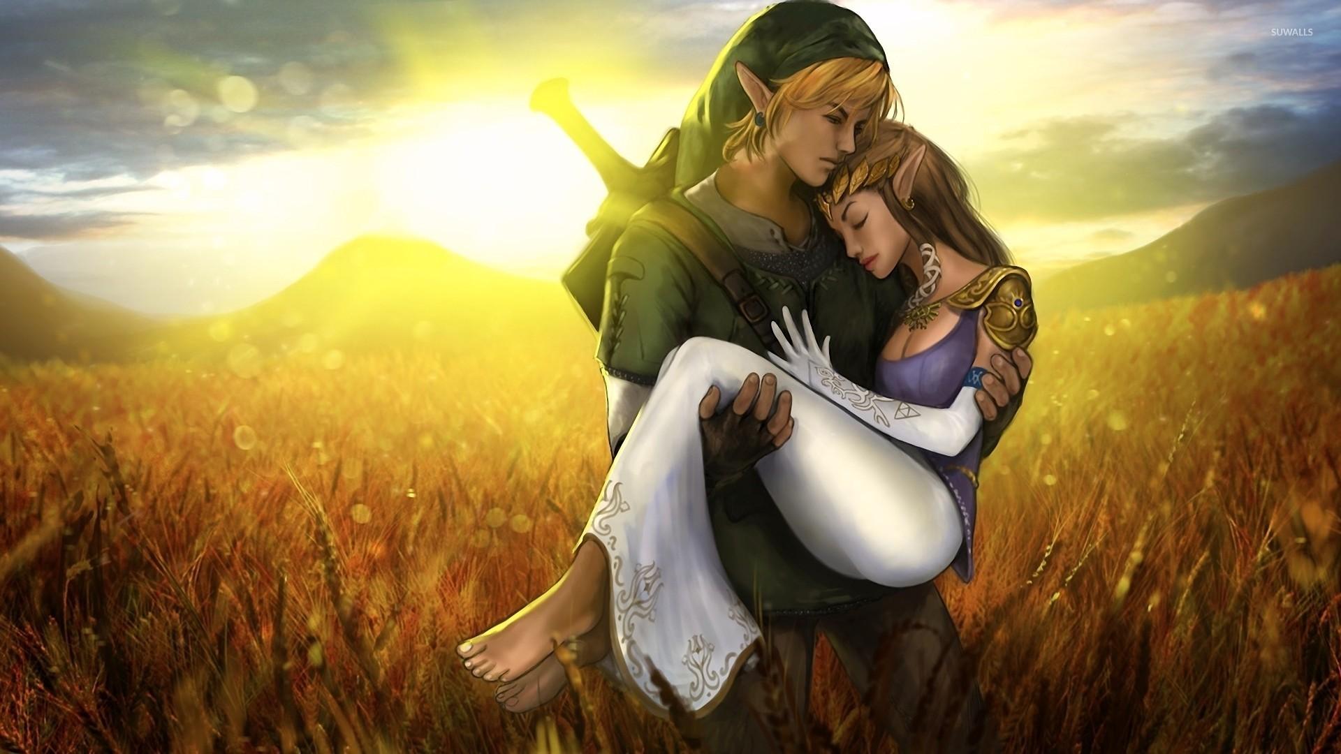 Wallpaper Love X : Link and Zelda - The Legend of Zelda wallpaper - Game wallpapers - #20056