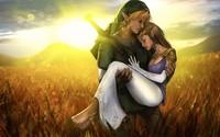 Link and Zelda - The Legend of Zelda wallpaper 1920x1080 jpg