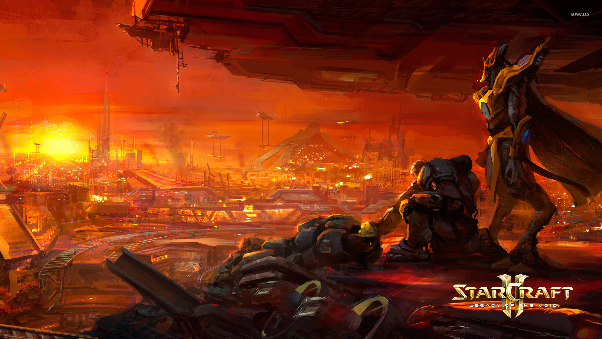 Looking Over The City In Starcraft Ii Legacy Of The Void