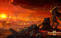 Looking over the city in StarCraft II: Legacy of the Void wallpaper 1920x1080 jpg