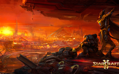Looking over the city in StarCraft II: Legacy of the Void wallpaper