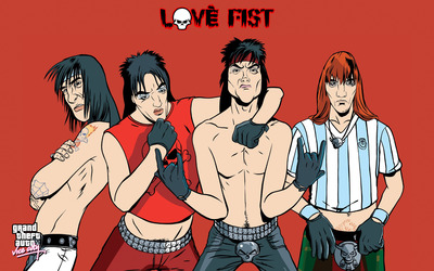 Love Fist heavy metal band wallpaper