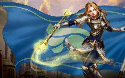 Lux in League of Legends wallpaper