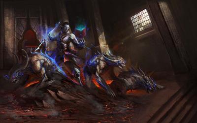 Magical creatures in Final Fantasy wallpaper