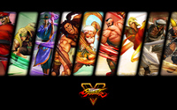 Male characters from Street Fighter V wallpaper 3840x2160 jpg