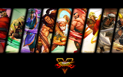 Male characters from Street Fighter V wallpaper