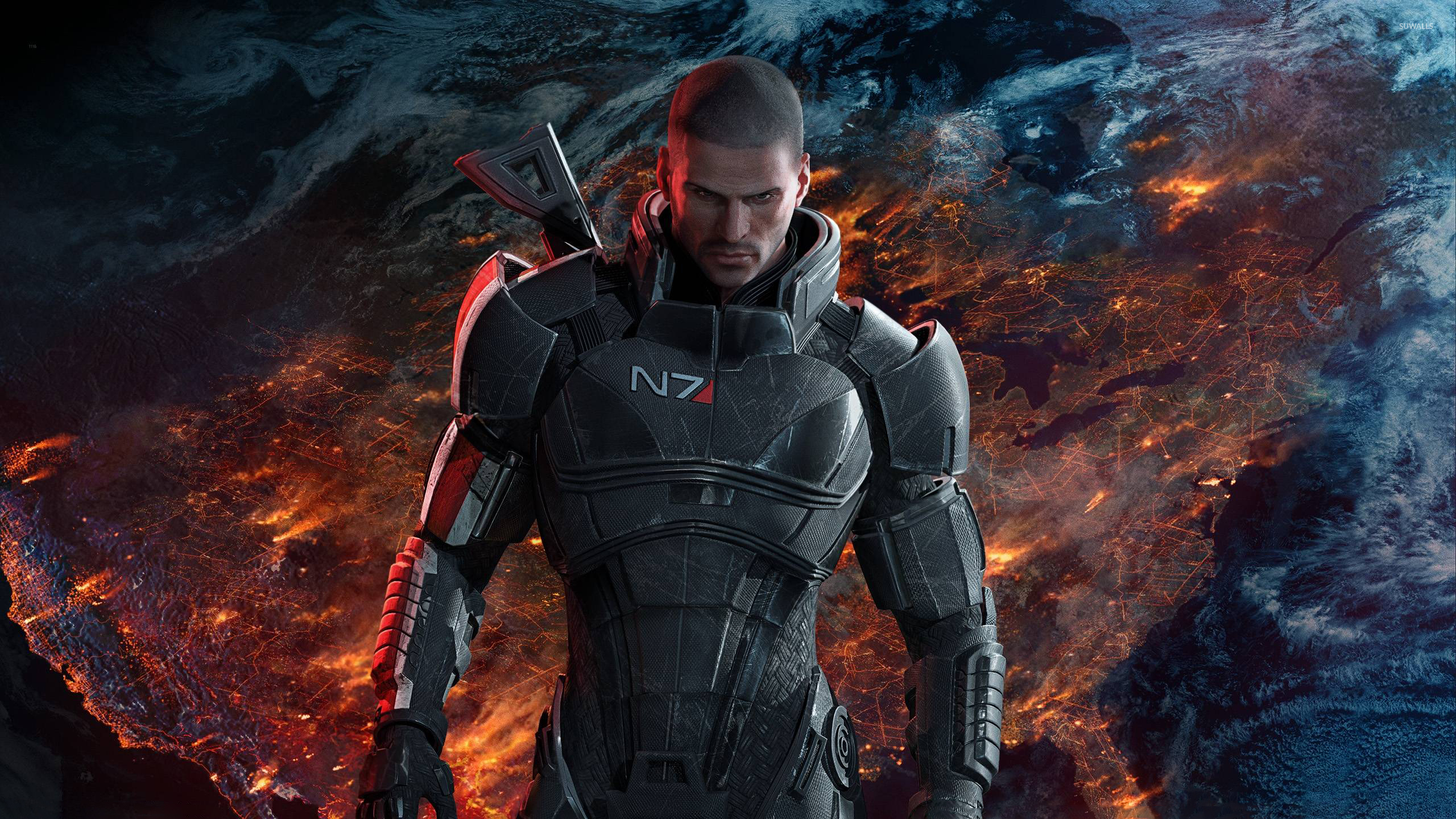 Male Commander Shepard In Mass Effect Wallpaper Game Wallpapers