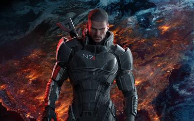 Male Commander Shepard in Mass Effect wallpaper