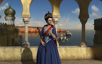 Maria I of Portugal - Sid Meier's Civilization V wallpaper 1920x1200 jpg