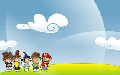 Mario and friends wallpaper