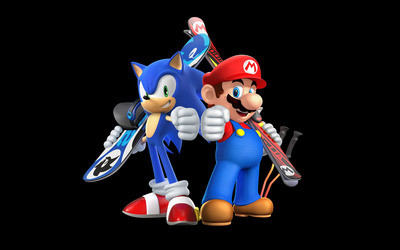 Mario & Sonic at the Sochi 2014 Olympic Winter Games wallpaper